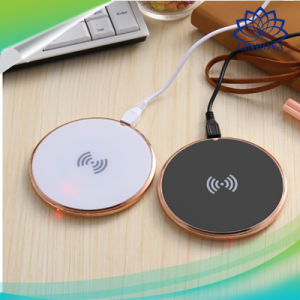 Qi Wireless Charging Pad Mobile Phone Charger with Anti-Slip Rubber pictures & photos