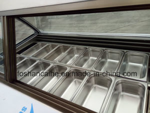 B24 Italian Gelato Display Case Freezer pictures & photos