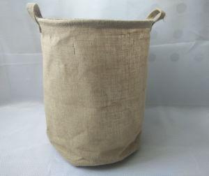 Linen Round Laundry Hamper pictures & photos