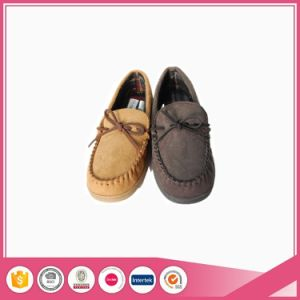 Micro Suede Mens Moccasin Shoes Slipper pictures & photos