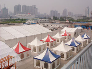 White and Red, White and Blue Pagoda Tent in 5m X 5m Size