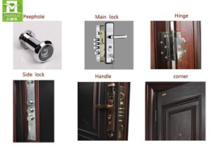 Steel Door Material and Entry Doors Type Modern Wrought Iron Door pictures & photos