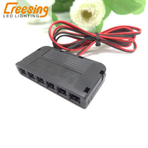 Mini 6 Way Distributor Box Junction Box 12V/3A for LED Cabinet Light pictures & photos