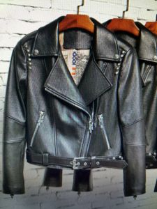 Ladies Leather Jacket, Oblique Zipper, Women Clothing, Fashion pictures & photos