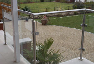 Stainless Steel Balcony Glass Balustrade with Round Post pictures & photos