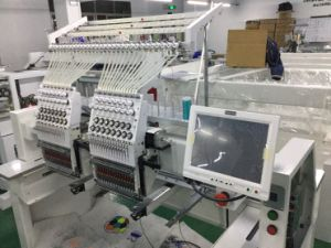 Wonyo 2 Head High Speed Cap and Cylinder Embroidery Machine Wy1502CH pictures & photos