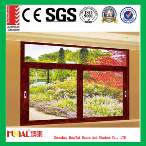 Energy Savings Aluminum Sliding Window with Low-E Glass pictures & photos