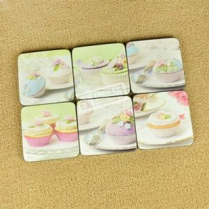 Custom Colors Cup Coaster 10*10cm pictures & photos