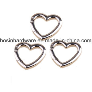 Metal Heart Spring Snap Open Gate Rings pictures & photos