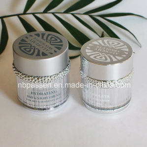 50g Matt Silver Acrylic Cosmetics Cream Jar with Ring (PPC-NEW-102) pictures & photos