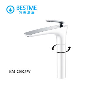 White Color Brass Long Basin Faucet with Ceramic Cartridge pictures & photos