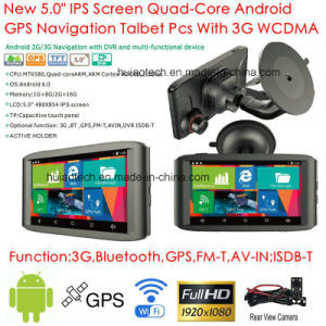"New 5.0""Capacitive Touch Panel 3G Tablet PC Androd 6.0 Car Portable Dash GPS Navigation with Bluetooth, ISDB-T TV,WiFi, 2CH Car DVR 5.0mega Car Black Box G-5076 pictures & photos"