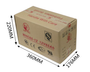 Long Life Rechargeable Gel Battery 12V 65A for Solar Power System pictures & photos