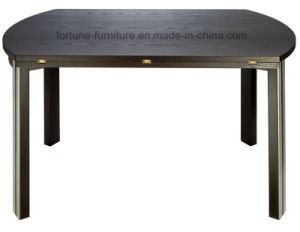 Wooden Round Foldable UV Lacquer Solid Wood Leg Dining Table (I&D-6027) pictures & photos