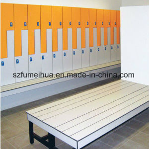 Z Shape Door Swimming Pool Locker/ HPL Compact Laminate Locker pictures & photos