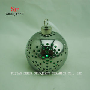 Spherical Electroplated Ceramic Candle Stand, Porcelain Candle Candlestick/C pictures & photos