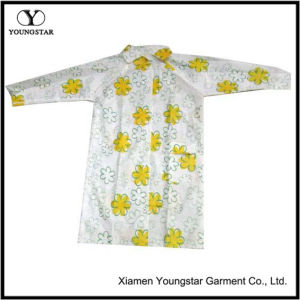 Cheap Fashion Printed Flower PVC Raincoat for Outdoor Travel pictures & photos