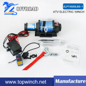 Synthetic Rope Winch Electric Recovery Winch 4500lbs 12V/24V pictures & photos