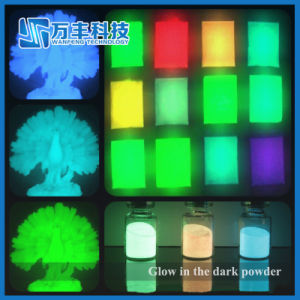 Rare Earth Bluish Green Photoluminescent Powder Glow in The Dark Pigment pictures & photos