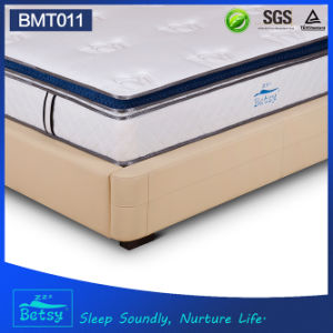 OEM Resilient Perfect Sleep Mattress 28cm Box Top Design with Gel Memory Foam and Massage Wave Foam pictures & photos
