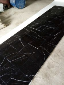 Nero Marquina 40X40 Floor Tiles Black Marble Black Marquina Tiles pictures & photos