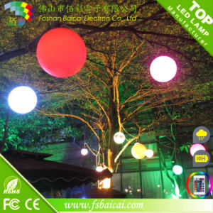 Christmas and Holiday Decorative LED Illumiated Balls Hanging on Tree