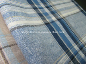 Linen Cotton Yarn Dyed Check for Shirts Fabric pictures & photos