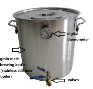 Wholesale Price 30L/8gal Stainless Steel Pot Home Mini Brewing Equipment Beer Making Kit pictures & photos