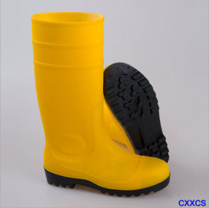 High Quality Safety Shoes Rain Boots Building Site Protection Boots pictures & photos