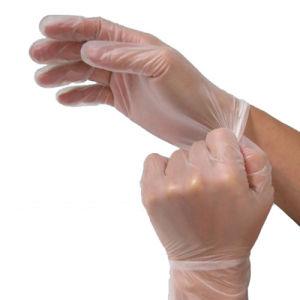 Transparent Cleanroom Disposable ESD Vinyl Glove pictures & photos