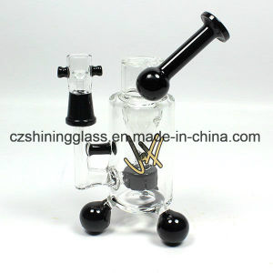 Glass Smoking Water Pipe with Triangle Leg Inner Perc pictures & photos