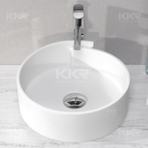 Hair Salon Solid Surface Above Counter Top Wash Basin pictures & photos