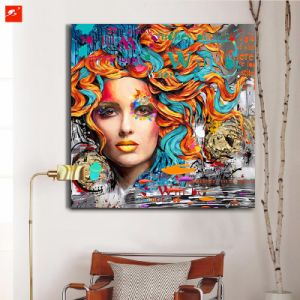 New Fashion Woman Portrait Oil Painting pictures & photos