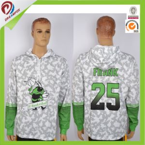 Sublimated Custom Made Red Green Plain Blank Hoodie pictures & photos