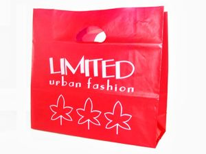 Custom Printed Die Cut Handle PE Plastic Retail Shopping Bags pictures & photos
