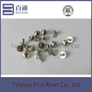 3X4.58mm Nickel Plated Mushroom Head Semi Tubular Steel Rivet pictures & photos