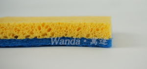 Easy Grip Cellulose Sponge Scourer with Non-Scratch Scouring Pad pictures & photos
