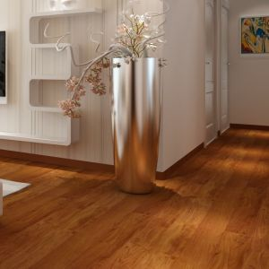 12.3mm Machogany Handscraped Suraface V-Groove Laminate Flooring pictures & photos