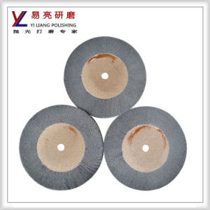 Aluminum Alloy Surface Wire Drawing Non Woven Gray Flap Wheel pictures & photos