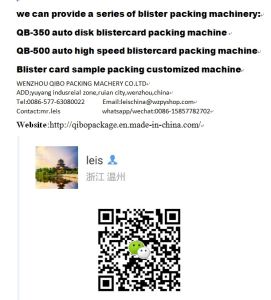 PVC Roll Seaing to Blister Papercard Packing Machine with Qibo Brand pictures & photos