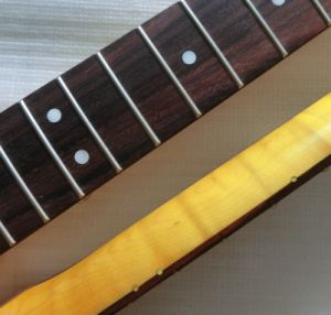 Rosewood Fingerboard Flamed Maple Tele Guitar Neck pictures & photos