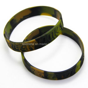Custom Camouflage Sport Camouflage Silicone Wristband pictures & photos