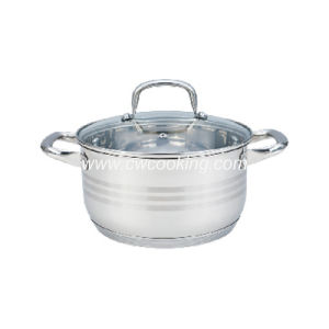 Stainless Steel Casserole with Bakelite Handle Stock Pot pictures & photos