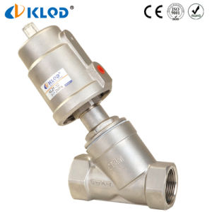 """Good Price Stainless Steel Pneumatic 2/2 Way 2"""" Water Angle Valve pictures & photos"""