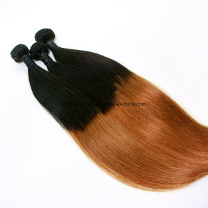 Straight T1b-30# Brazilian Virgin Hair Three Pieces in One Pack pictures & photos