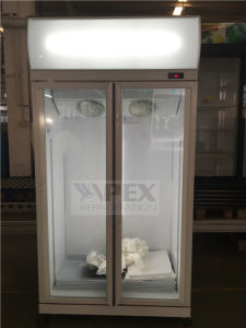 Vertical Double Swing Door Display Cooler with Dynamic Cooling System pictures & photos
