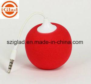 Mini Sponge Round Ball 3.5mm Plug Portable Speaker pictures & photos