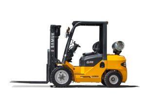 1-3.5ton Samuk Gasoline LPG Gas Forklift pictures & photos