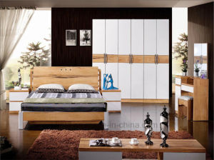 High Quality Classical Wooden Furniture Bedroom Set Bed (HX-LS033) pictures & photos