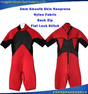 Customized Men Neoprene Nylon Fabric Shorty Diving Wetsuit pictures & photos